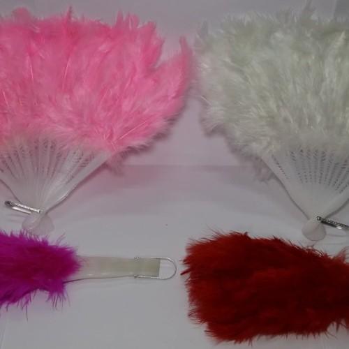Foto Produk Kipas Bulu Tangan Tari Pengantin Pernikahan - Feather Fan dari berkaryalah