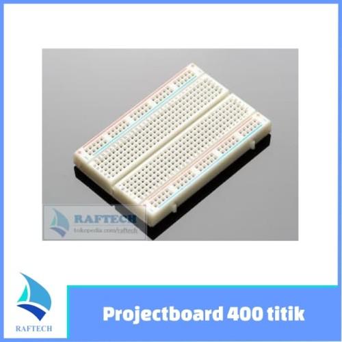 Foto Produk Breadboard - Protoboard - Projectboard 400 titik / point/ holes dari RAFTECH