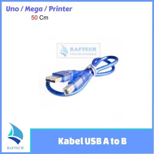 Foto Produk Kabel USB A to B - kabel USB printer - Arduino UNO - MEGA - 50 cm dari RAFTECH