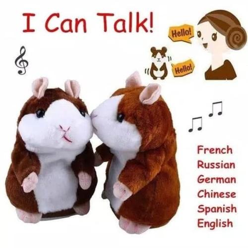 Foto Produk Talking Hamster Boneka Imut Bisa Bicara Peniru Suara dan Goyang dari happykidsolshop