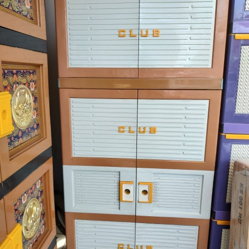 Foto Produk lemari plastik gantung 5 susun 2 pintu PREMIUM BESAR dari furnico.id
