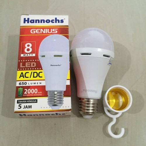 Foto Produk Lampu Emergency LED hannochs genius emergency /magic ac dc 8w 8 watt dari Natz