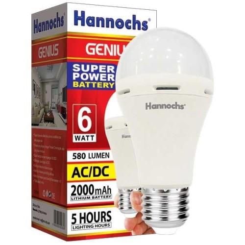 Foto Produk Lampu Emergency LED hannochs genius emergency /magic ac dc 6w 6 watt dari Natz