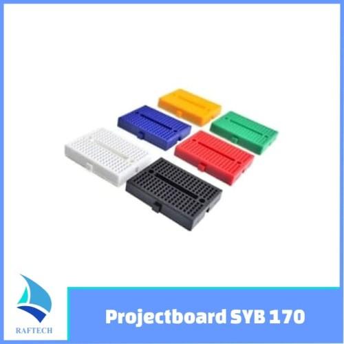 Foto Produk Projectboard Breadboard SYB 170 Mini Bread Board 170 tie dari RAFTECH