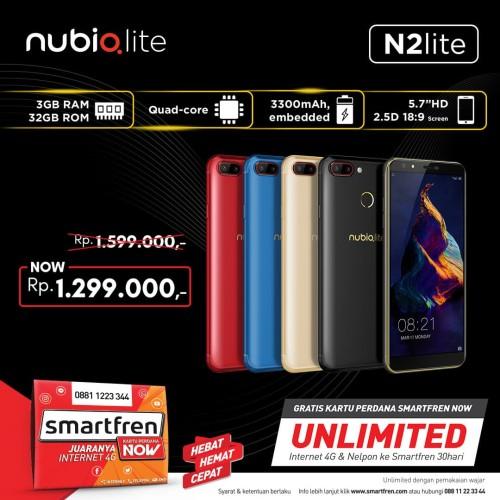 Foto Produk Nubia N2lite - Merah dari 28 L Shop