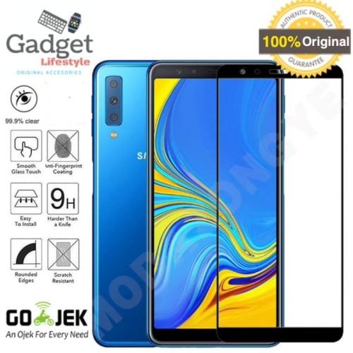 Foto Produk Premium Full Cover Tempered Glass Samsung Galaxy A7 2018 - Anti Gores dari GadgetLifestyle Official