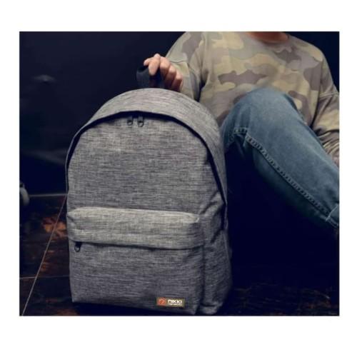 Foto Produk BP01 Korea Casual Canvas Backpack Pria Wanita/ Tas Kuliah Sekolah A613 dari Mega-Persada