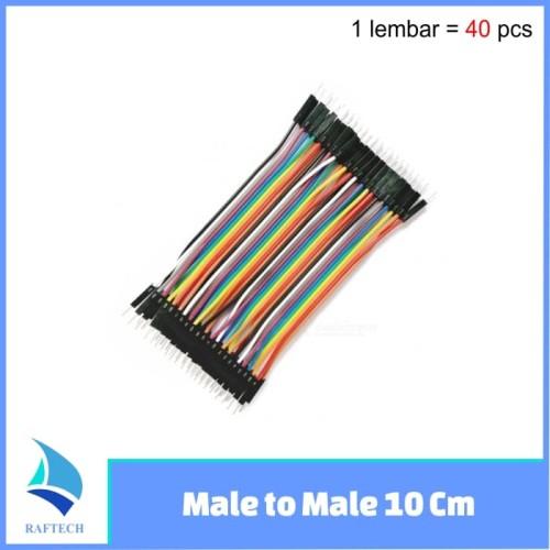 Foto Produk Kabel Jumper Arduino Dupont Pelangi 10 cm Male to Male 1 lembar isi 40 dari RAFTECH