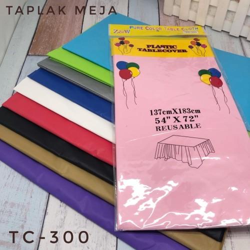 Foto Produk Taplak Meja Plastik Polos / Plastic Table Cover dari 689