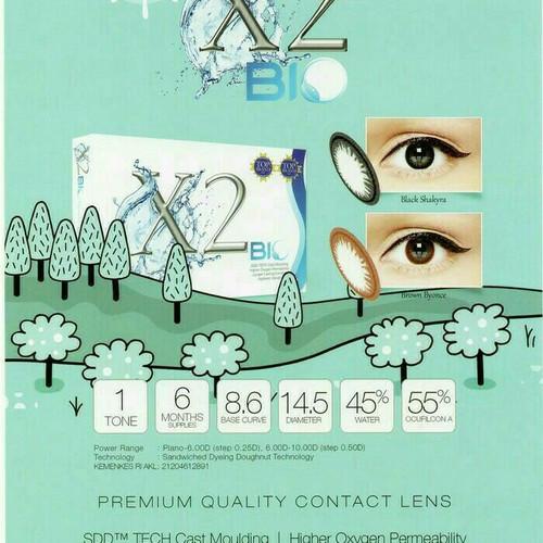 Foto Produk softlens warna x2 bio mata sensitif baby eyes hitam brown ready minus dari ASEAN Shop