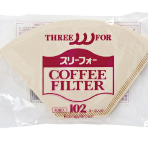 Foto Produk Coffee paper filter kertas CAFEX JPN Trapezoid 102 (2-4 cup) isi 40 dari WATERGROUND COFFEE