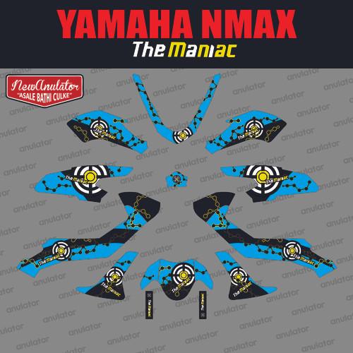 Foto Produk Sticker Striping Motor Stiker Yamaha NMAX The Maniac Biru Spec B dari anulator-custom
