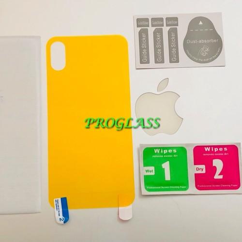 Foto Produk Iphone X BACK Cover CLEAR TPU Film Protector / Antigores Premium dari Pro Glass