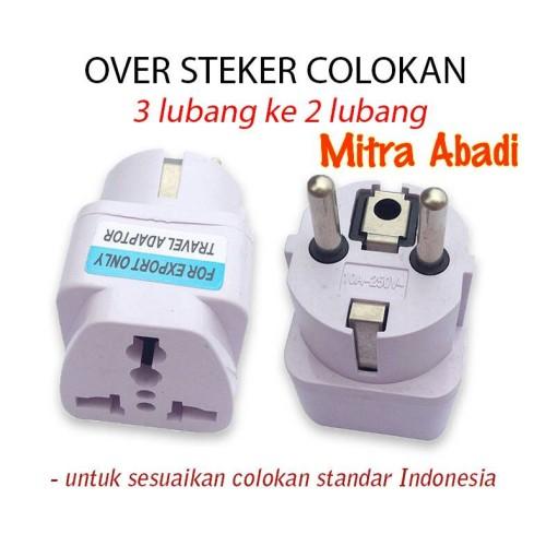 Foto Produk Over Steker Colokan Kaki 3/Sambungan Steker 3 ke 2 STANDARD INDONESIA dari Toko Mitra Abadi