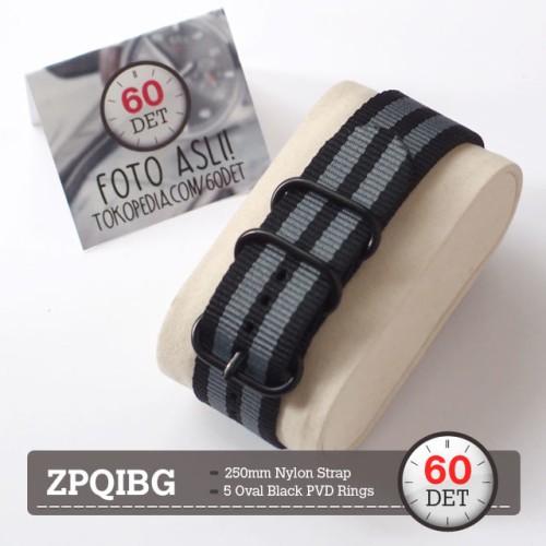 Foto Produk Zulu Strap PVD Tali Jam Tangan Nylon Kain 18mm 20mm 22mm 24mm ZPQIBG - 20mm dari 60DET