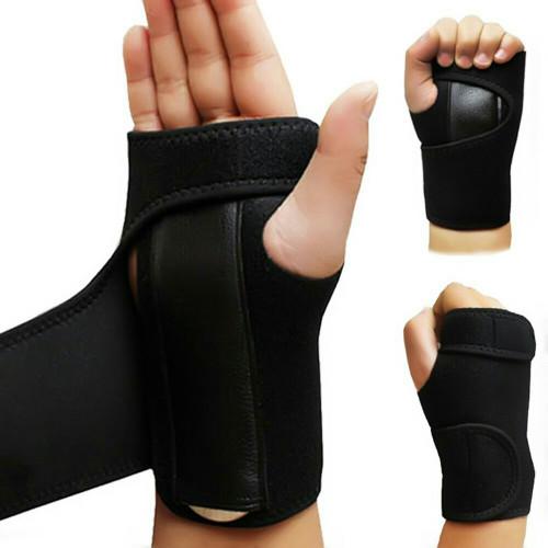 Foto Produk wrist steel splint untuk Carpal Tunnel Syndrom dan cedera pergelangan - Hitam, tangan kiri dari fisio kita