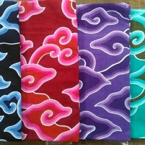 Foto Produk Kain Batik Printing Mega Mendung Biru Hitam dari Raisbatik