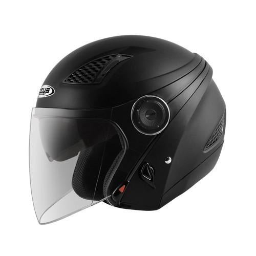 Foto Produk Zeus ZS610 Matt Black Helm Half Face Double Visor Z610 dari Juragan Helm ID