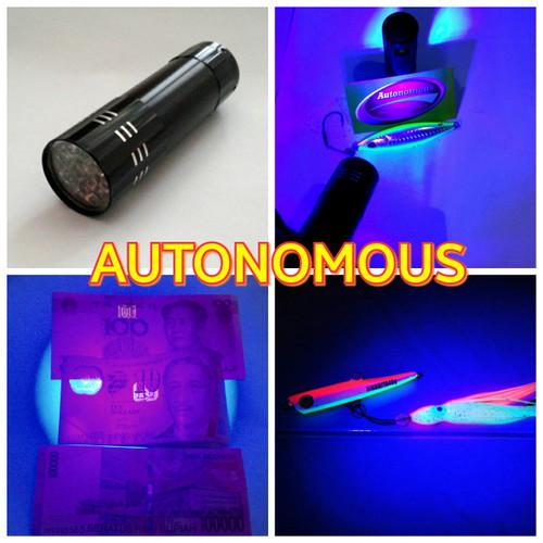 Foto Produk Senter /flashlight led uv( ultraviolet) 9 led + baterai dari AUTONOMOUS