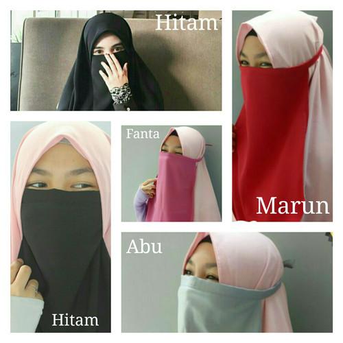 Foto Produk Cadar Tali Niqab bukan hanya Niqob Wolfis Kualitas Premium - Navy dari Prinses Sakura