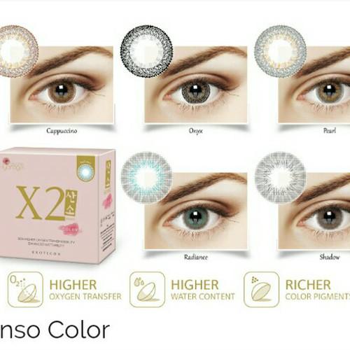 Foto Produk x2 sanso softlens warna kadar air tinggi mata sensitif ready minus dari ASEAN Shop