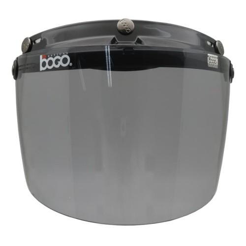 Foto Produk Visor/Kaca Helm Retro Bogo Flat datar Smoke Original dari Helm Cargloss