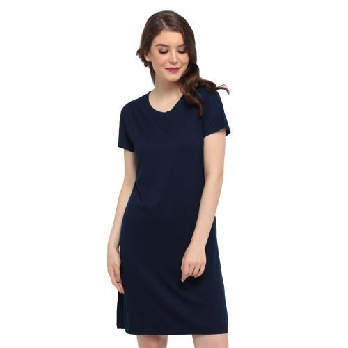 Foto Produk LEMONE Tumblr Tee/ Kaos Cewe Premium/ Dress Wanita Polos-Biru Dongker dari LEMONE