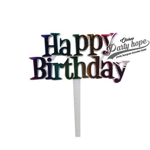 Foto Produk topper cake HBD MIX/ topper cupcake HBD/ topper cake HBD/ hiasan kue dari PARTY HOPE 2