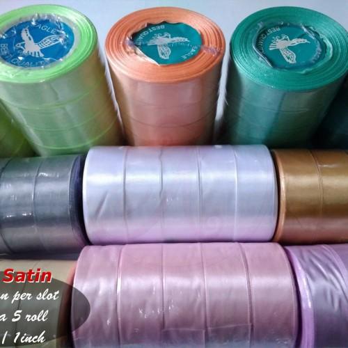 Foto Produk Pita Satin 1 Inch (2,5cm) per slot dari Kutique Craft