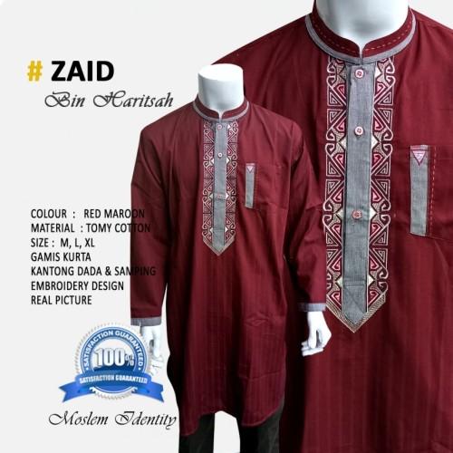 Foto Produk Baju Koko Pakistan, Koko Kurta, Gamis Koko Warna Zaid -D163 dari Gamis Bordir Terbaru