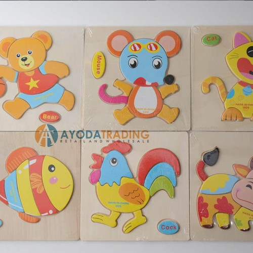 Foto Produk Puzzle Kayu 3D Mainan Edukasi Balita dari Ayoda Trading