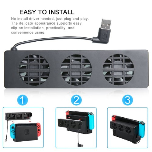 Foto Produk Nintendo Switch Console Cooling Fan Dobe Original Stand dari Suyanto//Liberty Game