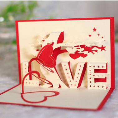 Foto Produk Quilling Card/ Kartu Ucapan / Birthday/ Kartu Ulang Tahun love cinta dari WE LOVE FASHION -GROSIR-