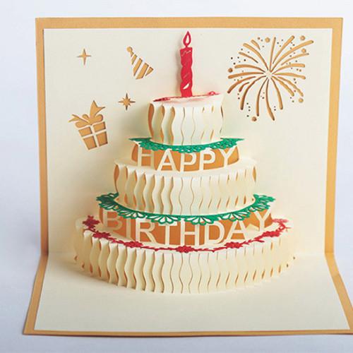 Foto Produk Kartu Ucapan Selamat Ulang Tahun Pop-Up 3D (Birthday Card) dari WE LOVE FASHION -GROSIR-