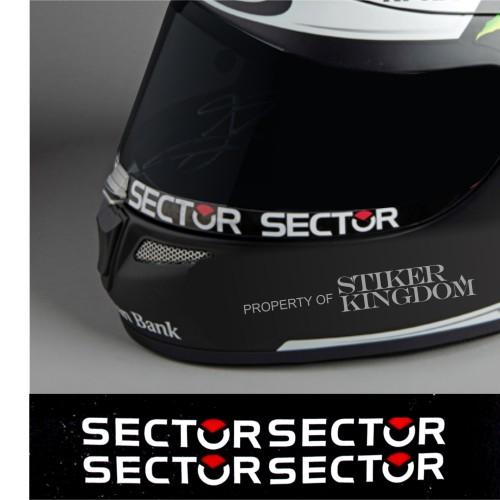 Foto Produk Stiker Visor Kaca Helm Sector Sector Lorenzo 4 Pcs dari Stiker Kingdom