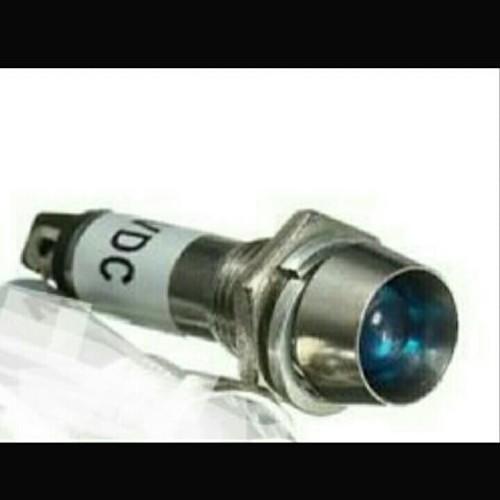 Foto Produk KR04974 220Volt DC Signal Indicator Lamp Pilot Blue Dashboard Dia. 8mm dari KlinikRobot