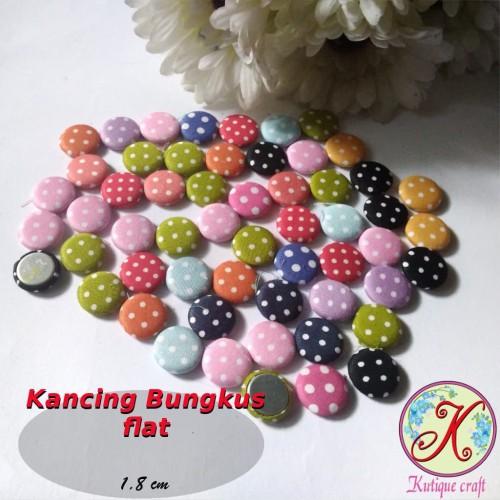 Foto Produk Kancing Bungkus Flat 1,8cm Mix per pack dari Kutique Craft