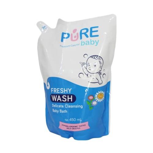 Foto Produk Pure Baby Purebaby Wash Freshy 450ml 450 ml Refill dari toku pedia