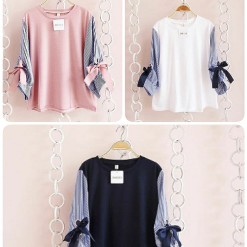 Foto Produk japan top/atasan remaja wanita/baju pita lucu/fashion terbaru muslim dari dewshop