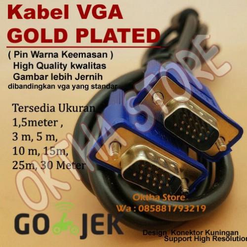 Foto Produk Kabel VGA 1,5meter Gold Plated 1,5m/1,5 Meter High Quality dari Oktha Store