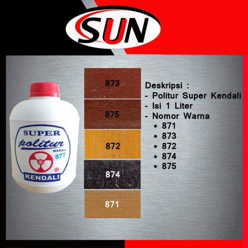 Foto Produk Cat Kayu Politur Plitur Super Kendali dari Sun Hardware