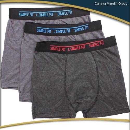 Foto Produk Celana dalam boxer Simple Fit bahan twotone dari Cahaya Mandiri Group