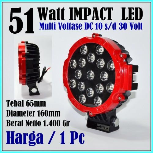 Foto Produk LED lampu tembak motor mobil 51w lampu sorot led 12v 12 volt offroad dari Delta Laris