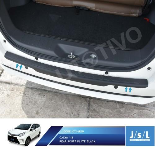 Foto Produk Toyota Calya Sillplate Belakang Hitam / Rear Scuff Plate Black dari Autotivo