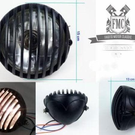 Foto Produk Headlamp Grill H4 Baut Samping cocok untuk japstyle scrambler tracker dari old classic