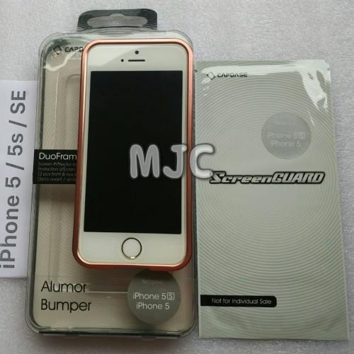 Foto Produk CAPDASE Alumor Bumper Metal iPhone SE Rose Gold Pink ORIGINAL Capdase dari MJC