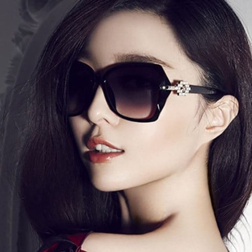 Foto Produk kacamata hitam fashion wanita trendi black sunglasses sunnies jgl037 - Ungu dari Oila