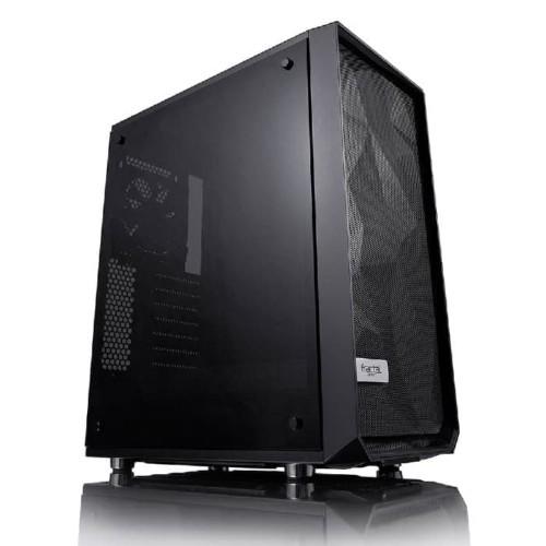 Foto Produk Fractal Design Meshify C TG - Tempered Glass Black dari distributorkomputer