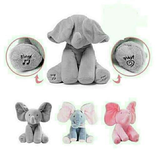 Foto Produk boneka gajah peek a boo, bisa menari & bernyanyi dari Arjuna0502