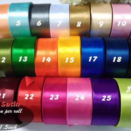 Foto Produk Pita Satin 1,5 Inch (4cm) per roll - 25. Ungu Tua dari Kutique Craft